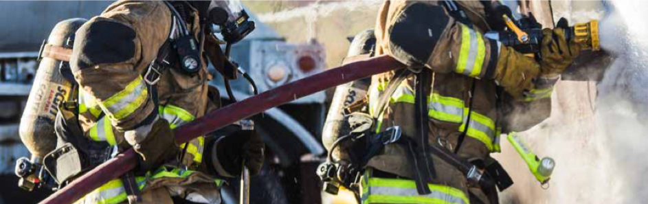 Beschermende brandweerkleding